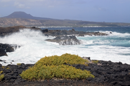 grand strand: Beautiful coast of Lanzarote