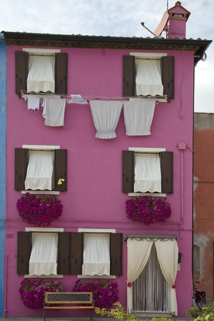 case colorate: Colorful houses in Burano