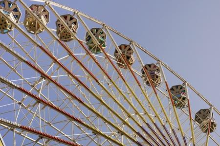 fairground: Ferris wheel at fairground Editorial