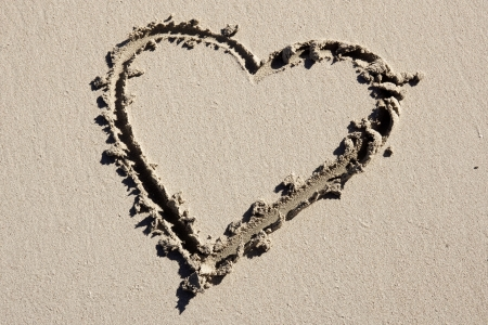 Heart on beach photo