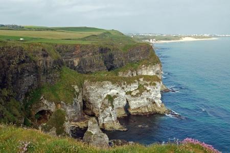 View on North Irish coast photo