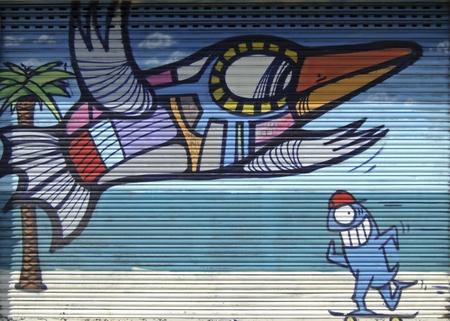 Graffiti in Barcelona Editorial
