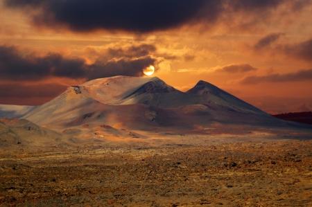 timanfaya: Hermoso paisaje del parque volc?nico de Timanfaya en Lanzarote