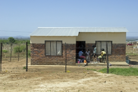 House in a township in Louis Trichard, South Africa