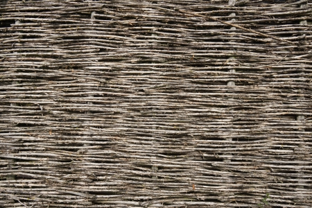 poling: Wicker fence background
