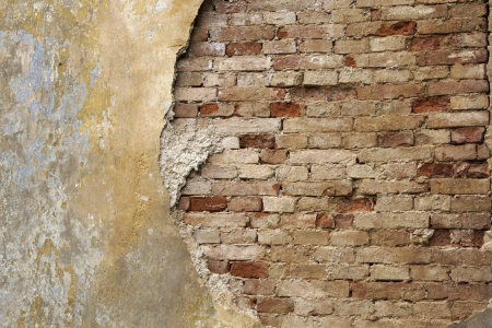 Colorful old wall with bricks Stock Photo