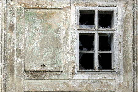 Window of vintage old building photo