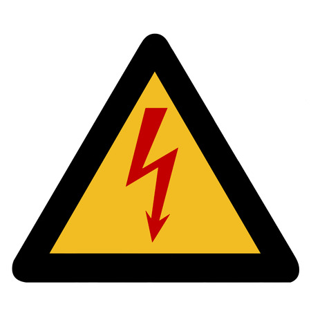 Electricity warning sign photo