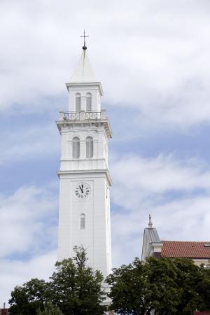 View on the church tower of Novi Vinodolski Stock Photo - 22524207