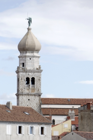 krk: Church of Krk with an angel on top
