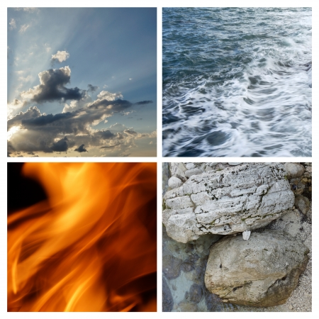 Collage of the four elements photo