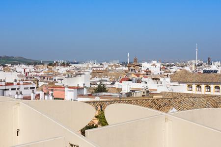 View from the Metropol Parasol building in Plaza de la Encarnacion, Seville, Spain