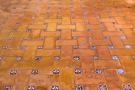 mosaic floor: Closeup of beatiful colorful mosaic floor tiles