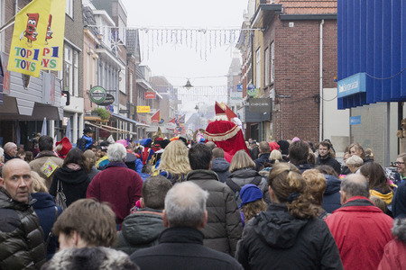 zwarte piet: Arrival of Sinterklaas in Winterswijk, The Netherlands