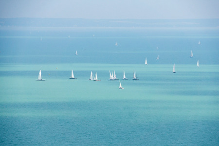 balaton: Sailboats on Lake Balaton in Hungary