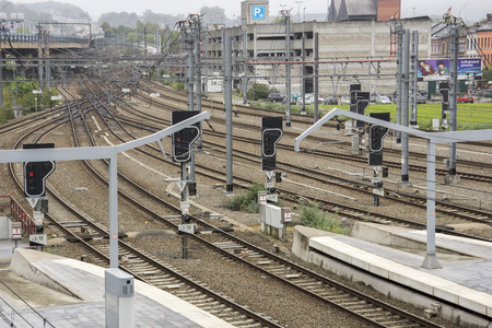 liege: Railway tracks: Junction at Liege station
