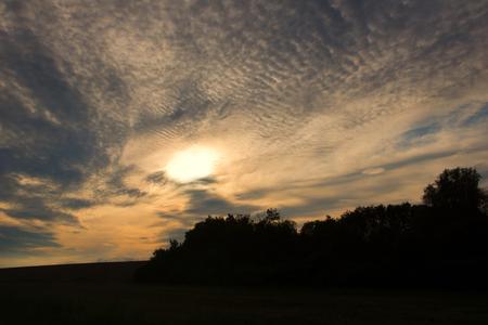 cloudscape: Sunset with beautiful cloudscape Stock Photo