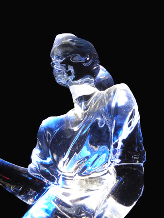 ice sculpture: Zwolle, The Netherlands, 4 January 2015 - Ice sculpture festival with artists from all over the world