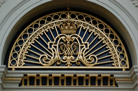 loo: Coat of arms of the Loo Palace in Apeldoorn, The Netherlands. Editorial