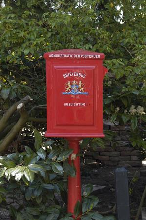 letter box: Antique red Dutch letter box