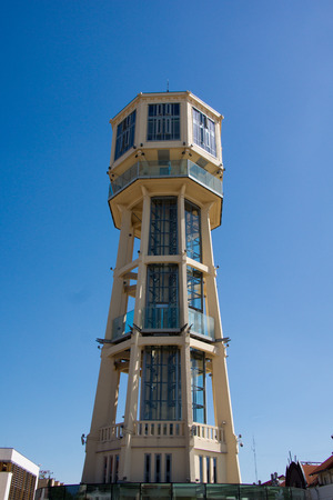 The water tower in the city of Siofok near Lake Balaton in Hungary