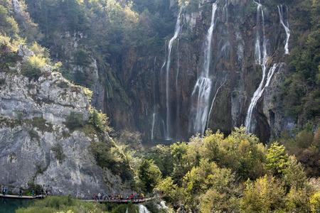 quite: Waterfall in Plitvice National Park in Croatia