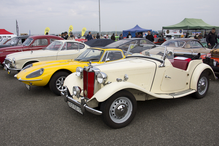 BUDAPEST, HUNGARY - SEPTEMBER 30 2017: Oldtimer event and races at the Hungaroring circuit on September 30, 2017 in Budapest, Hungary