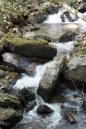 Anna Ruby waterfalls in Georgia, USA Foto de archivo - 133739430