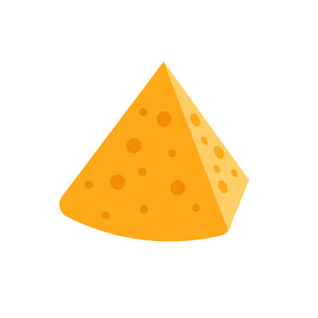 A piece of cheese on a white background. Vector illustration on a white background icon. Isolated icon Vectores