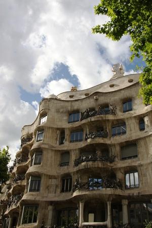 facilitate: The La Pedrera, Antoni Gaudi, Barcelona, Spain. Editorial