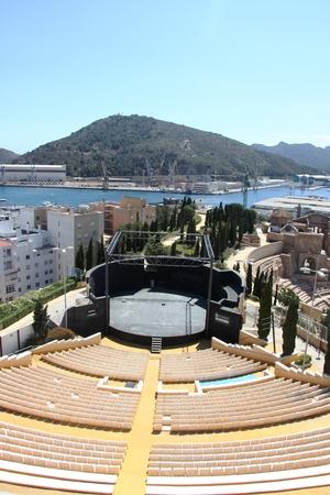 roman amphitheater: Roman amphitheater in Cartagena, Region Murcia, Spain Editorial