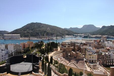 cartagena: Roman amphitheater in Cartagena, Region Murcia, Spain Editorial