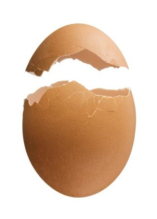 Coquille d'oeuf cassé Banque d'images