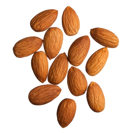 Almonds isolated on white background photo