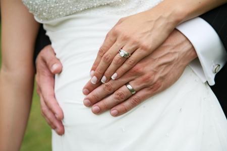 platinum wedding ring: Bride and Groom