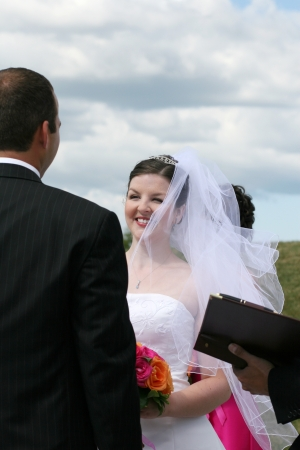 wedding vows: Bride and Groom exchanging wedding vows