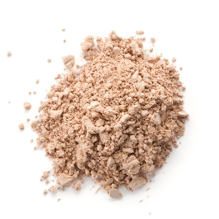 heap up: Cosmetic powder isolated on white background