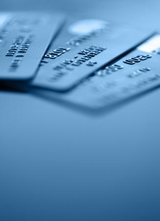 Bank credit cards en kopieer ruimte