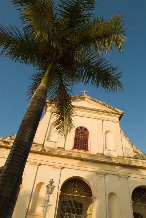 Church and palm tree, Cuba