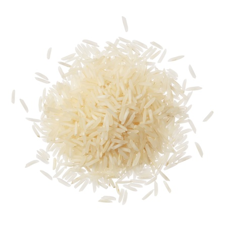 basmati: Basmati rice on a pile isolated on white background