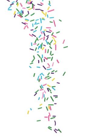 Colorate caramelle sprinkles isolato su sfondo bianco Archivio Fotografico - 18365335