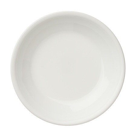 small plate: Empty clean plate isolated on white background, top view