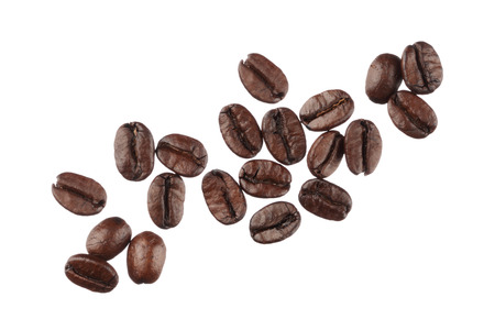 Coffee beans isolated on white background close up Stok Fotoğraf - 26510549
