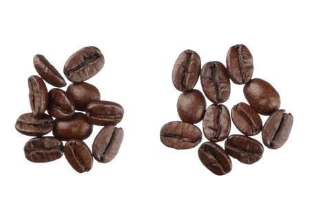 Chicchi di caffè isolati su sfondo bianco close up Archivio Fotografico - 26510550