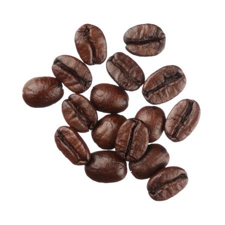 Chicchi di caffè isolati su sfondo bianco close up Archivio Fotografico - 26510551