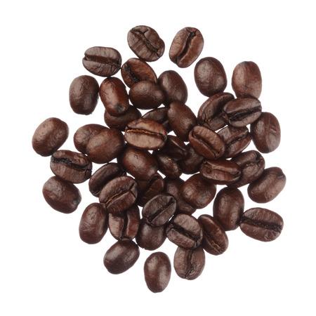 Chicchi di caffè palo isolato su sfondo bianco close up Archivio Fotografico - 26508122