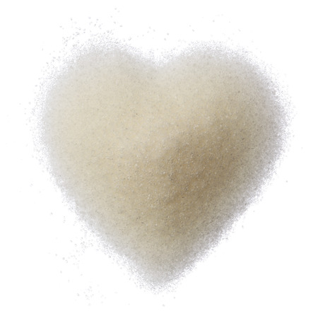 Sugar heart isolated on white background top view Stock Photo