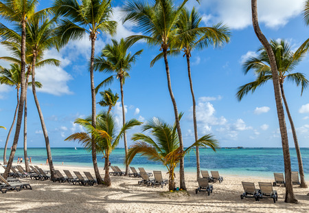 Luxury resort beach in Punta Cana, Dominican Republic