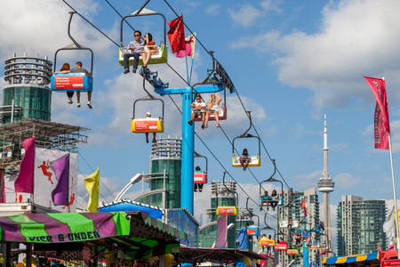 ex: TORONTO, CANADA - AUGUST 17, 2014, Community event at The Ex, Canadian National Exhibition (CNE)  Editorial