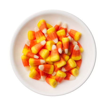 Halloween Candy Corns isolated on white background Reklamní fotografie